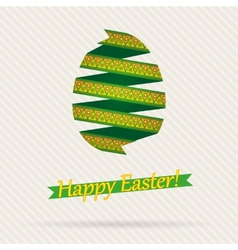 Easter Egg From Ribbons vector image