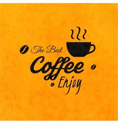 Menu for restaurant the best coffee enjoy use vector image