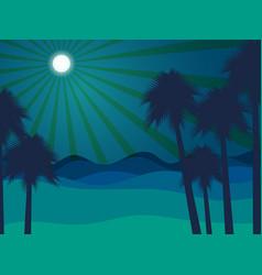 night in the desert desert landscape vector image vector image