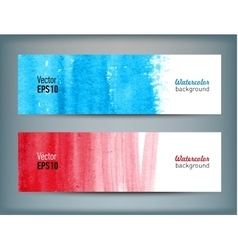 Set of banners with watercolor hand drawn texture vector image