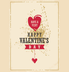 valentines day creative card design vector image