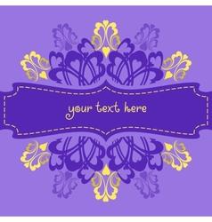 Violet ornate background vector image