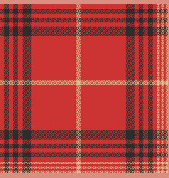 check red tartan seamless pattern vector image