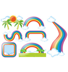 different design of rainbow vector image