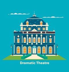 grand theatre or theatre building for vector image