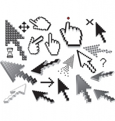 pixilated icons vector image vector image