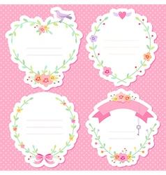 Romantic frames scrap vector