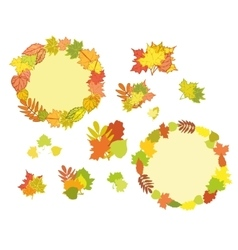 Set of hand drawn autumn vector image