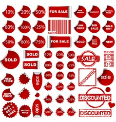 shopping promotional elements vector image vector image