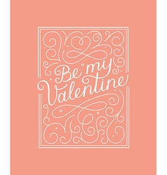 valentines day greeting card design template with vector image vector image
