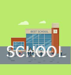 best school flat style concept vector image vector image