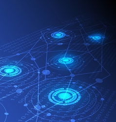 digital technology concept background vector image vector image