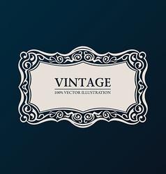 Label framework Vintage banner decor vector image vector image