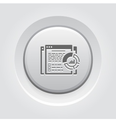 Report Icon Grey Button Design vector image