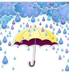 umbrella and rain drops vector image vector image