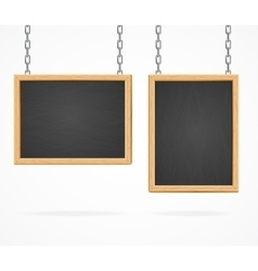 Black Board Sign vector image vector image