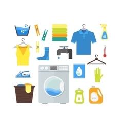 Cartoon Laundry Set vector image vector image