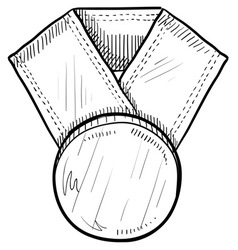 doodle award medal vector image vector image