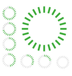 green round pre-loader vector image