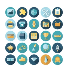 icons flat line business banking vector image