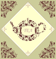 Retro Teapot Tile vector image vector image
