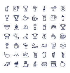 49 cup icons vector