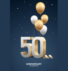 50th year anniversary background vector