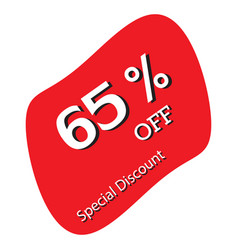 65 off discount price tag special discount vector