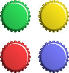 A set of bottle caps vector