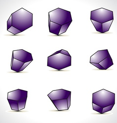 Abstract shapes design elements vector