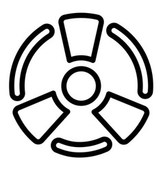 atomic energy icon outline style vector image