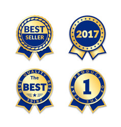Award ribbon the best seller set vector
