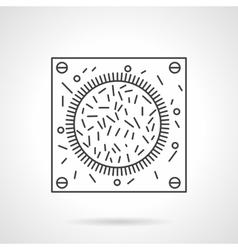 Bacteria icon flat line design icon vector