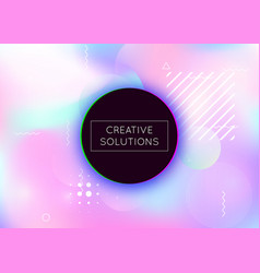 bauhaus background with liquid shapes dynamic vector image