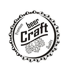 beer craft monochrome vector image