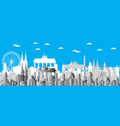 Berlin city gradient 4 vector