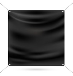 black mock up vinyl banner vector image