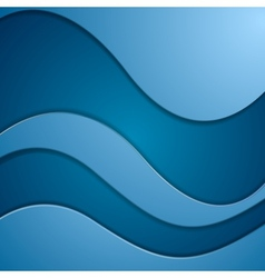 Bright blue corporate waves vector