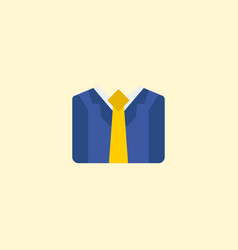 businessman icon flat element vector image