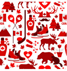 canada sign and symbol info-graphic elements flat vector image