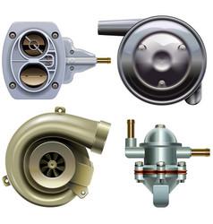 Car parts set 3 vector