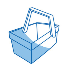 Cartoon wooden basket picnic for food image vector