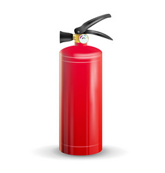 Classic fire extinguisher metal glossiness vector