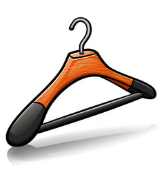 clothes hanger cartoon isolated vector image