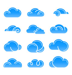 Cloud logo symbol sign icon set design vector