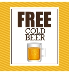 cold beer design vector image
