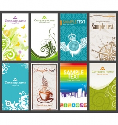 collection of vertical business card vector image vector image