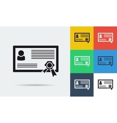 Colored and monochrome certificate icon vector image
