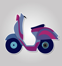 colorful scooter icon isolated on white background vector image