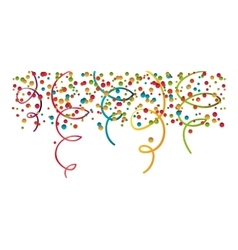 Confetti explosion decoration vector